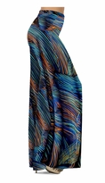 Customize Blue Orange & Black Thin Lines Slinky Print  Special Order Customizable Plus Size & Supersize Pants, Capri's, Palazzos or Skirts! Lg to 9x
