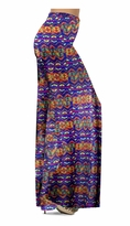 Customizable Blue Reptar Tribal Slinky Print Special Order Plus Size & Supersize Pants, Capri's, Palazzos or Skirts! Lg to 9X