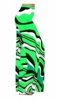 Customize Fresh Green Swirls Slinky Print Special Order Plus Size & Supersize Pants, Capri's, Palazzos or Skirts! Lg to 9x