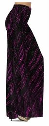 Customize Fuschia Streaks Glimmer Slinky Print Special Order Plus Size & Supersize Pants, Capri's, Palazzos or Skirts! Lg to 9x