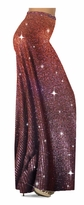 NEW! Customizable Glittery Brown With Copper Vertical Lines Glitter Print Special Order Plus Size & Supersize Pants, Capri's, Palazzos or Skirts! Lg to 9x