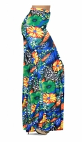 Customizable Green & Tangarine Orange Floral Speckled Paradise Slinky Print Floral Speckled Paradise Slinky Print Special Order Plus Size & Supersize Pants, Capri's, Palazzos or Skirts! Lg to 9x