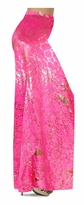 NEW! Customize Hot Pink & Gold Metallic Shiny Slinky Print Special Order Plus Size & Supersize Pants, Capri's, Palazzos or Skirts! Lg to 9x