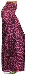Customizable Red With Hot Pink Glittery Leopard Slinky Print Special Order Plus Size & Supersize Pants, Capri's, Palazzos or Skirts! Lg to 9x