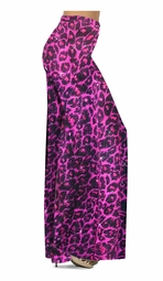 NEW! Customize Hot Pink Leopard Glittery Slinky Print Special Order Plus Size & Supersize Pants, Capri's, Palazzos or Skirts! Lg to 9x