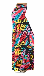 Customize Pink & Black La Muse Slinky Print Special Order Plus Size & Supersize Pants, Capri's, Palazzos or Skirts! Lg to 9x