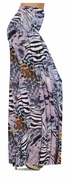 CLEARANCE! Lilac & Brown Multi Animal Skin Slinky Print Special Order Plus Size & Supersize Pants, Capri's, Palazzos or Skirts! 1x 2x