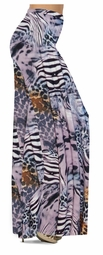 NEW! Customize Lilac & Brown Multi Animal Skin Slinky Print Special Order Plus Size & Supersize Pants, Capri's, Palazzos or Skirts! Lg to 9x