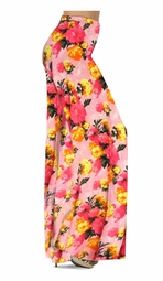 Customize Lovely Pink Spring Flowers Slinky Print Special Order Plus Size & Supersize Pants, Capri's, Palazzos or Skirts! Lg to 9x