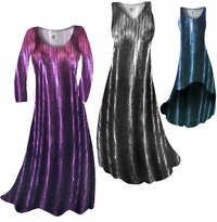NEW! Customizable Metallic Vertical Lines in Fuschia, Silver, or Blue & Black Slinky Print Plus Size & Supersize Standard or Cascading A-Line or Princess Cut Dresses & Shirts, Jackets, Pants, Palazzo's or Skirts Lg to 9x