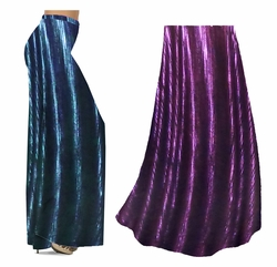 SOLD OUT! NEW! Customizable Metallic Vertical Lines in Fuchsia, Silver, or Blue & Black Slinky Print Special Order Plus Size & Supersize Pants, Capri's, Palazzos or Skirts! Lg to 9x