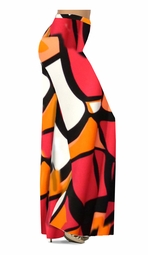SOLD OUT! Customize Orange & Black Cubist Slinky Print Special Order Plus Size & Supersize Pants, Capri's, Palazzos or Skirts! Lg to 9x