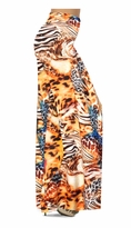 NEW! Customize Orange & Blue Multi Animal Skin Slinky Print Special Order Plus Size & Supersize Pants, Capri's, Palazzos or Skirts! Lg to 9x