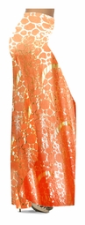 Customizable Orange & Gold Metallic Shiny Slinky Print Special Order Plus Size & Supersize Pants, Capri's, Palazzos or Skirts! Lg to 9x