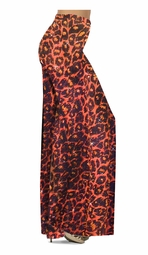Customizable Orange Leopard Glittery Slinky Print Special Order Plus Size & Supersize Pants, Capri's, Palazzos or Skirts! Lg to 9x