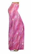 SOLD OUT! NEW! Customizable Pretty Hot Pink Sparkly Sequins Print Special Order Plus Size & Supersize Pants, Capri's, Palazzos or Skirts! Lg to 9x