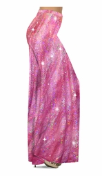 NEW! Customizable Pretty Hot Pink Sparkly Sequins Print Special Order Plus Size & Supersize Pants, Capri's, Palazzos or Skirts! Lg to 9x