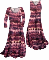 NEW! Customize Purple & Cream Tye Dye Slinky Print Plus Size & Supersize Standard or Cascading A-Line or Princess Cut Dresses & Shirts, Jackets, Pants, Palazzo's or Skirts Lg to 9x