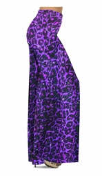 NEW! Customize Purple Leopard Glittery Slinky Print Special Order Plus Size & Supersize Pants, Capri's, Palazzos or Skirts! Lg to 9x