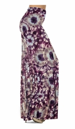 NEW! Customize Dark Purple Wine and Sand Tie Dye Slinky Print Special Order Plus Size & Supersize Pants, Capri's, Palazzos or Skirts! Lg to 9x