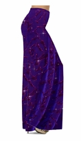 Customize Purple With Hot Pink Glitter on Velvet Animal Stripes Slinky Print Special Order Plus Size & Supersize Pants, Capri's, Palazzos or Skirts! Lg to 9x