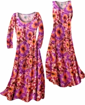NEW! Customize Red, Orange & Purple Tye Dye Bursts Slinky Print Plus Size & Supersize Standard or Cascading A-Line or Princess Cut Dresses & Shirts, Jackets, Pants, Palazzo's or Skirts Lg to 9x