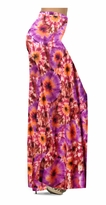 Customizable Red, Orange & Purple Tye Dye Bursts Slinky Print Special Order Plus Size & Supersize Pants, Capri's, Palazzos or Skirts! Lg to 9x