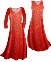 Customize Red With Gold Zebra Glitter Slinky Print Plus Size & Supersize Standard or Cascading A-Line or Princess Cut Dresses & Shirts, Jackets, Pants, Palazzo's or Skirts Lg to 9x