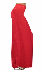 Customize Red With Red Hearts Glitter Slinky Print Special Order Customizable Plus Size & Supersize Pants, Capri's, Palazzos or Skirts! Lg to 9x