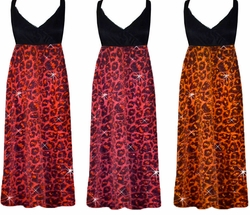 SALE!  Pink Glitter Leopard Glimmer Plus Size Slinky Black Empire Waist Dress add Matching Wrap 0x 1x 2x 3x 4x 5x 6x 7x 8x