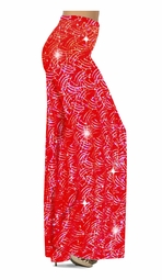 NEW! Customizable Sparkly Silver and Red Glitter Dots & Lines Print Special Order Plus Size & Supersize Pants, Capri's, Palazzos or Skirts! Lg to 9x