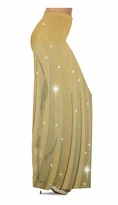 NEW! Customize Taupe & Gold Glimmer Glitter Vertical Lines Ribbed Slinky Print Special Order Plus Size & Supersize Pants, Capri's, Palazzos or Skirts! Lg to 9x