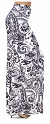 NEW! Customize White & Black Persian Paisley Slinky Print Special Order Plus Size & Supersize Pants, Capri's, Palazzos or Skirts! Lg to 9x