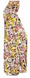 NEW! Customize Yellow & Black Diamond & Daisy Ganado Tribal Slinky Print Special Order Plus Size & Supersize Pants, Capri's, Palazzos or Skirts! Lg to 9x