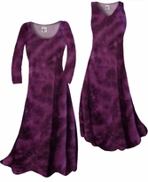 Customize Dark Grape Tye Dye Slinky Print Plus Size & Supersize Standard or Cascading A-Line or Princess Cut Dresses & Shirts, Jackets, Pants, Palazzo's or Skirts Lg to 9x