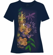 SALE! Dark Navy Dragonflies Glittery Plus Size T-Shirt 4x