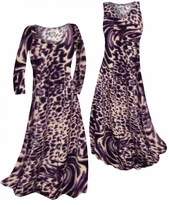 Customizable Dark Purple Animal Skin Print Slinky Plus Size & Supersize Standard or Cascading A-Line or Princess Cut Dresses & Shirts, Jackets, Pants, Palazzo's or Skirts Lg to 9x