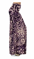 NEW! Dark Purple Animal Skin Print Slinky Special Order Customizable Plus Size & Supersize Pants, Capri's, Palazzos or Skirts! Lg to 9x