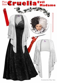 NEW! Cruella Evil Madame Plus Size Supersize Costume Lg XL 1x 2x 3x 4x 5x 6x 7x 8x