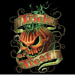 NEW! Flaming Pumpkin Trick or Treat Plus Size & Supersize T-Shirts S M L XL 2x 3x 4x 5x 6x 7x 8x (All Colors)