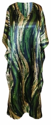 SALE! Customizable Forest Green Abstract Print Long Plus Size Caftan Dress or Shirt 1x-6x