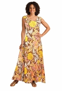 SALE! French Roast Floral Print Princess Cut Tank Plus Size Maxi Dress 3x 4x 5x 6x