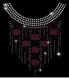Fuchsia Six Sided Star Dangling Sparkly Rhinestuds Plus Size & Supersize T-Shirts S M L XL 2x 3x 4x 5x 6x 7x 8x 9x (All Colors)
