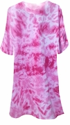 SALE! Fuschia Hot Pink Tie Dye Plus Size T-Shirts 6x
