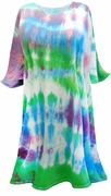 SALE! Green Blue Purple Pink Tie Dye Plus Size Supersize X-Long T-Shirt 1x 2x 3x 4x 5x 6x 8x