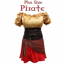 NEW! Pirate Plus Size Supersize Costume Large to 9x