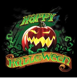 Happy Halloween Pumpkin Banner Plus Size & Supersize T-Shirts S M L XL 2x 3x 4x 5x 6x 7x 8x (All Colors)