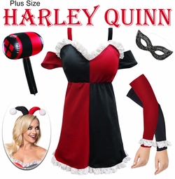 SALE! Harley Quinn Plus Size & Supersize Halloween Costume Lg XL 0x 1x 2x 3x 4x 5x 6x 7x 8x & 9x