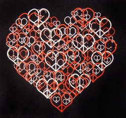 NEW! Heart Peace Symbols Plus Size & Supersize T-Shirts S M L XL 2x 3x 4x 5x 6x 7x 8x (All Colors)
