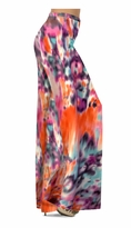 Customize Hot Orange Blur Print Slinky Special Order Customizable Plus Size & Supersize Pants, Capri's, Palazzos or Skirts! Lg to 9x